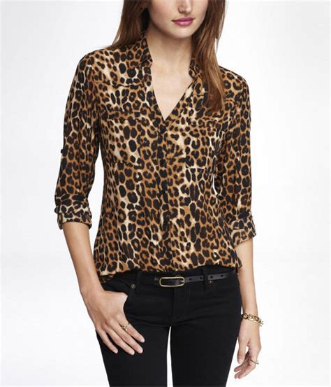 leopard print blouses where to buy a leopard print blouse black blouse