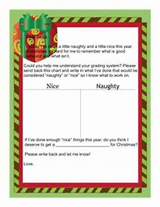 letter to santa naughty or nice With naughty or nice letter from santa