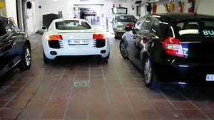 Audi Garage : audi r8 v8 leaving the garage youtube ~ Gottalentnigeria.com Avis de Voitures