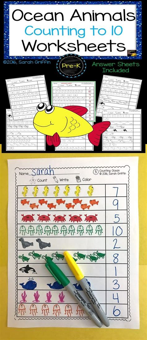 numbers to 10 count write color math worksheets k 2 math resources math
