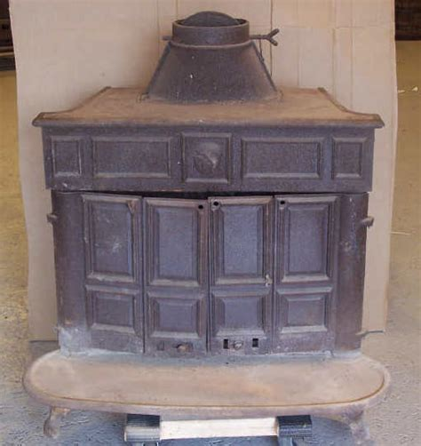 ben franklin cast iron wood burning stove lot
