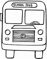 Coloring Pages Bus sketch template