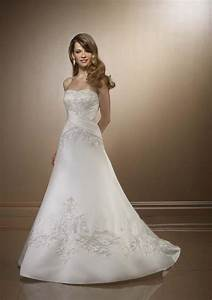 strapless silk wedding dress sang maestro With silk wedding dresses
