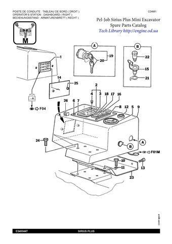 pel job excavator service manuals  parts catalogs