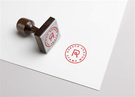 rubber stamp logo typography mockup psd good mockups