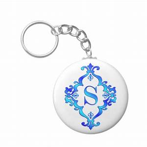 Letter s blue keychain zazzle for S letter keychain