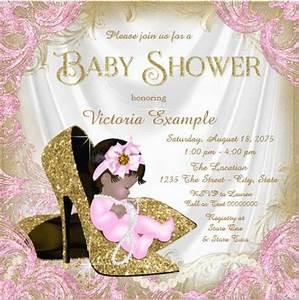 glitter baby girl shower invitation sample | Invitations ...