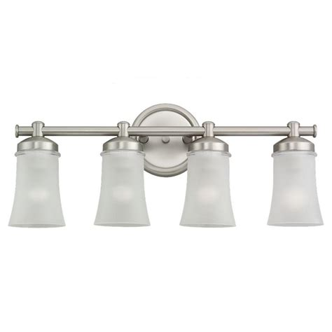 Brushed Nickel Bathroom Light Fixtures by Sea Gull Lighting Newport 4 Light Antique Brushed Nickel