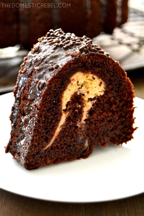 chocolate cheesecake bundt cake  domestic rebel