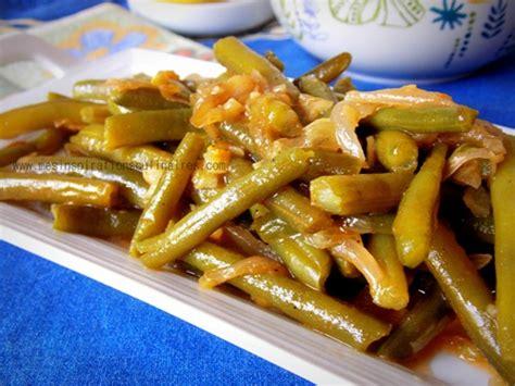 cuisiner haricot haricots verts à l 39 ail échalote facile le
