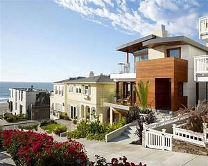 Beautiful, Beach, House, Design, In, California, Wallpaper