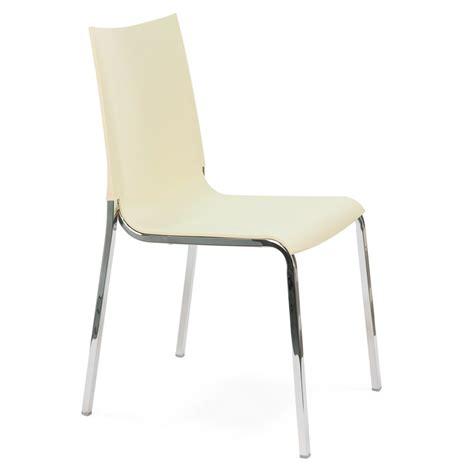 chaises métal chaise empilable de bontempi casa en aluminium avec