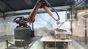 Kuka KR120 6 axis CNC robot in action - YouTube