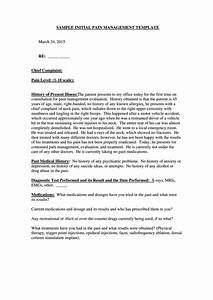 sample initial pain management template printable pdf download With pain management templates