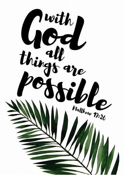 Matthew Possible God Things 26 Bible Verse