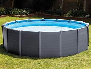 Dimension Piscine Hors Sol : kit piscine hors sol intex graphite ronde dimensions 478 x 124cm avec filtration sable sur ~ Melissatoandfro.com Idées de Décoration