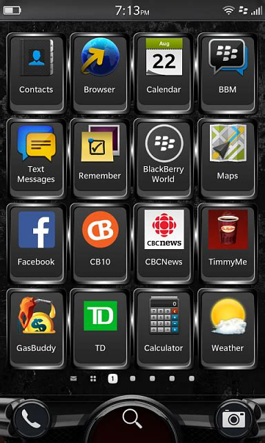 what s your app home screen look like blackberry forums