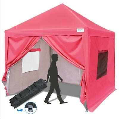 upgraded quictent  ft ez pop  canopy gazebo party tent   sides pink ebay
