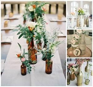centre de table original deco speciale avec des bouteilles With tapis chambre bébé avec centre de table fleur noel