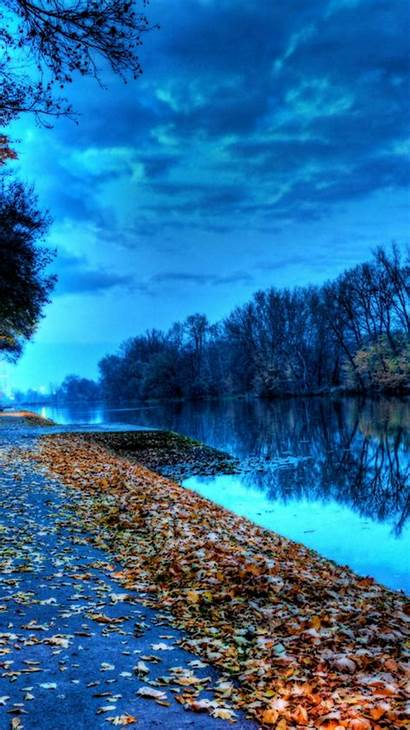 Iphone Lake Autumn Leaves Wallpapers Nature Ipod