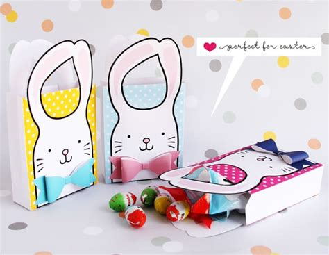 wonderful bunny bow  printable goodie bags