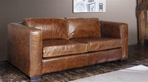canapé convertible aspect cuir vieilli le même en moins cher un canapé convertible