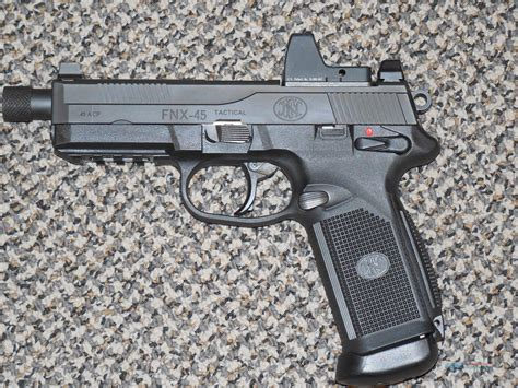 Fn Fnx-45 Tactical Pistol With Trijicon Sight Threaded