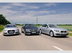 BMW 535d vs Audi A6 TDI and MercedesBenz E250 BlueTec