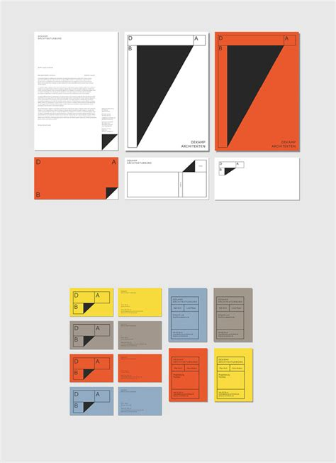design architecture bureau corporate identity by bureau mitte for architecture office