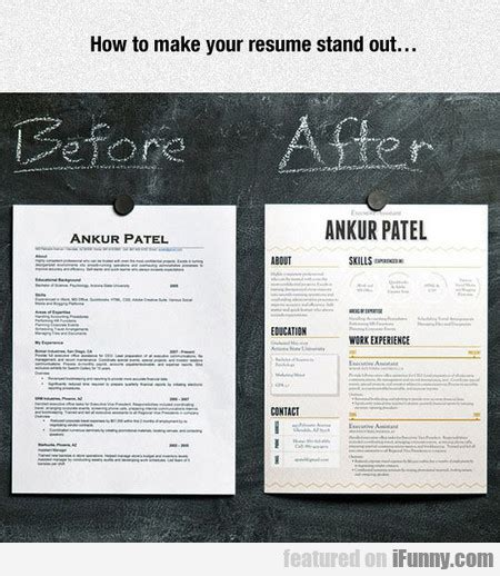 How To Make Your Resume by How To Make Your Resume Stand Out Ifunny