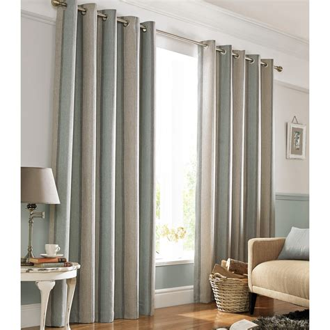 heavy weight downton fully lined eyelet curtains with