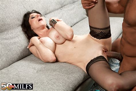 Buxom Over 50 Mature Milf Karen Kougar Giving Big Cock