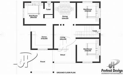 Floor Plan Square Bedroom Modern 1000 Feet