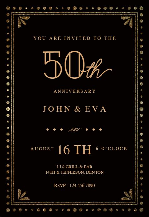fancy night anniversary invitation template