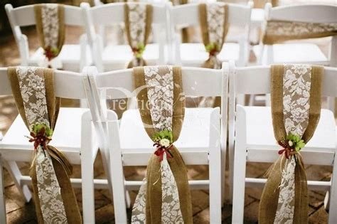 burlap chair sashes rustic wedding decor hire