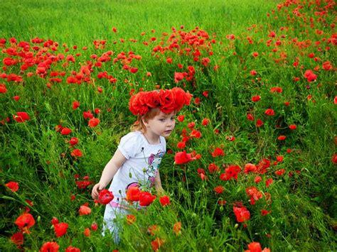 Beautiful Baby In Garden