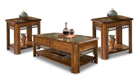 coffee table and two end tables nutmeg s