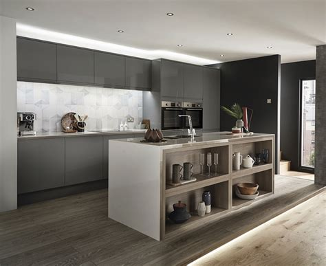 Clerkenwell Gloss Slate Grey Kitchen  Howdens Joinery