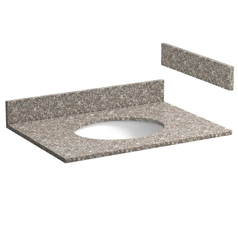 31 inch burlywood granite vanity top with pre attached