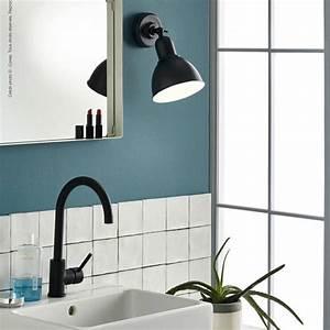 Applique Salle De Bain Noire : lewis applique de salle de bain m tal 18cm noir corep 49 90 ~ Teatrodelosmanantiales.com Idées de Décoration