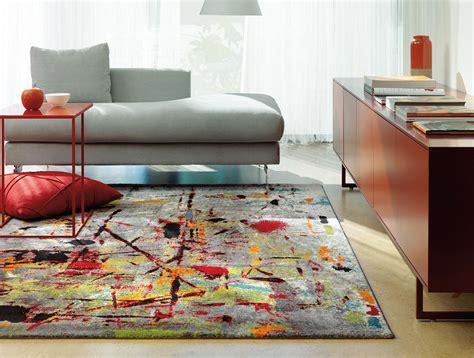 tapis de salon moderne multicolore slam arte espina