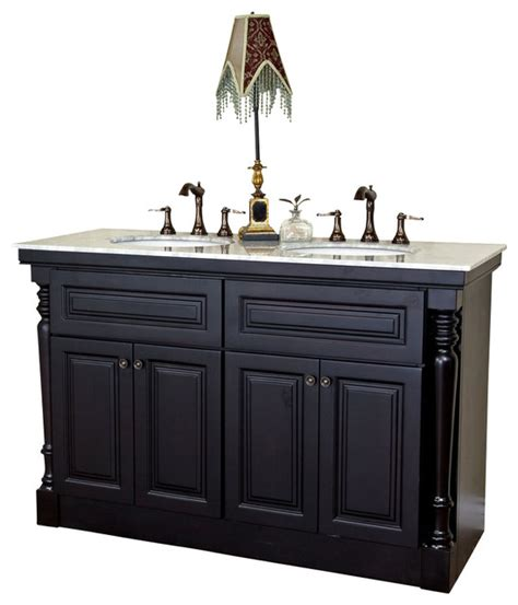 55 double sink vanity bellaterra 55 quot double sink vanity dark mahogany