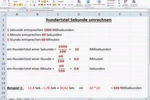 Abweichung In Prozent Berechnen : video hundertstel sekunde umrechnen ~ Themetempest.com Abrechnung
