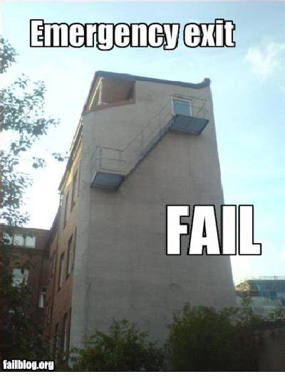 emergency fails blocked exit memes