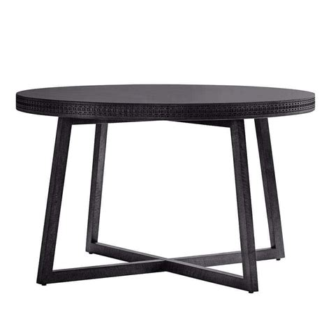 the chic black range 4 seat dining table