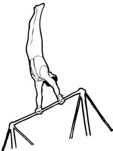 artistic gymnastics horizontal bar coloring page