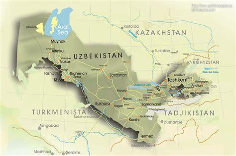uzbekistan map uzbekistan geography map uzbekistan map