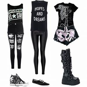 Goth High School outfits - Polyvore