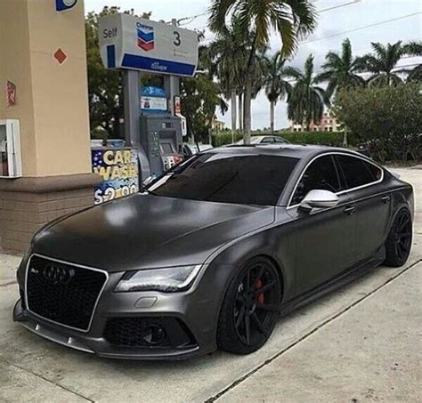 Audi R7 by Custom Satin Black Audi R7 Luxury Cars Audi Rs7 Cars