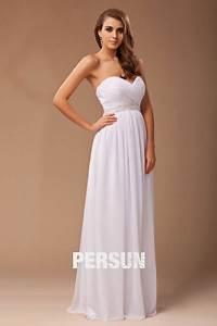 Robe Simple Mariage : robe blanche simple pour mariage ~ Preciouscoupons.com Idées de Décoration